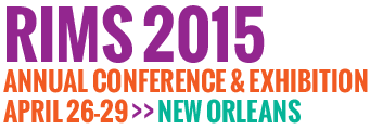 RIMS '15 - New Orleans, LA - April 26-29, 2015